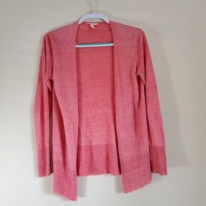 Eileen Fisher Coral Linen Cardigan Size XS